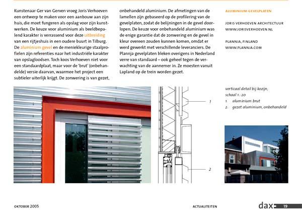 Publicatie architectuurblad DAX