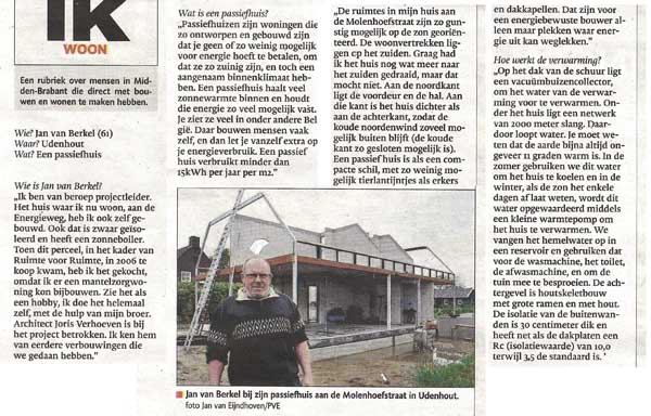 Passiefwoning Udenhout haalt krant