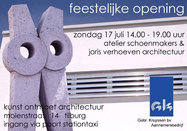 Aankondiging opening Atelier schoenmakers
