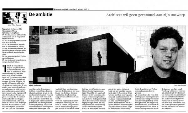 Interview Brabants Dagblad voor 'De Ambitie'
