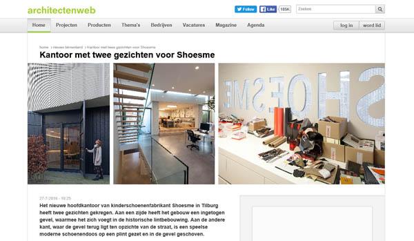 'Kantoor met twee gezichten voor Shoesme'