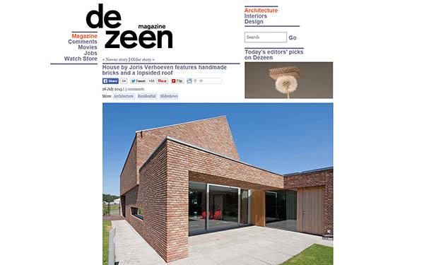 RielEstate op dé toonaangevende architectuursite Dezeen